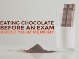 chocolate before an exam while studying