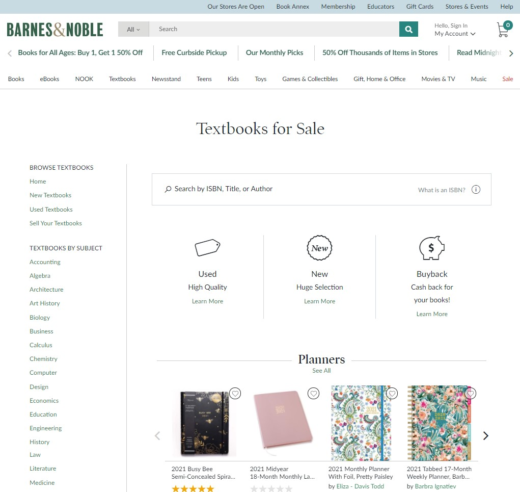 barnes & noble buy cheap textbooks and etextbooks