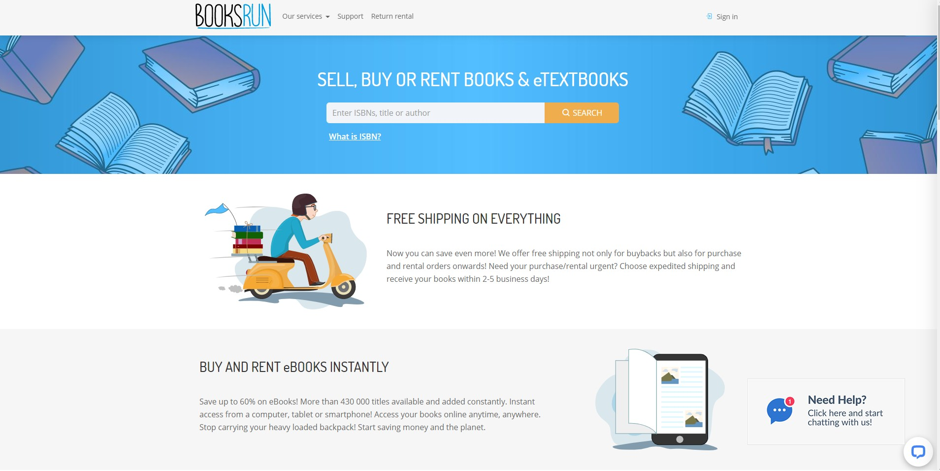 booksrun sell and buy cheap textbooks