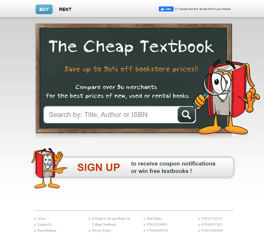 Thecheaptextbook price comparison tool