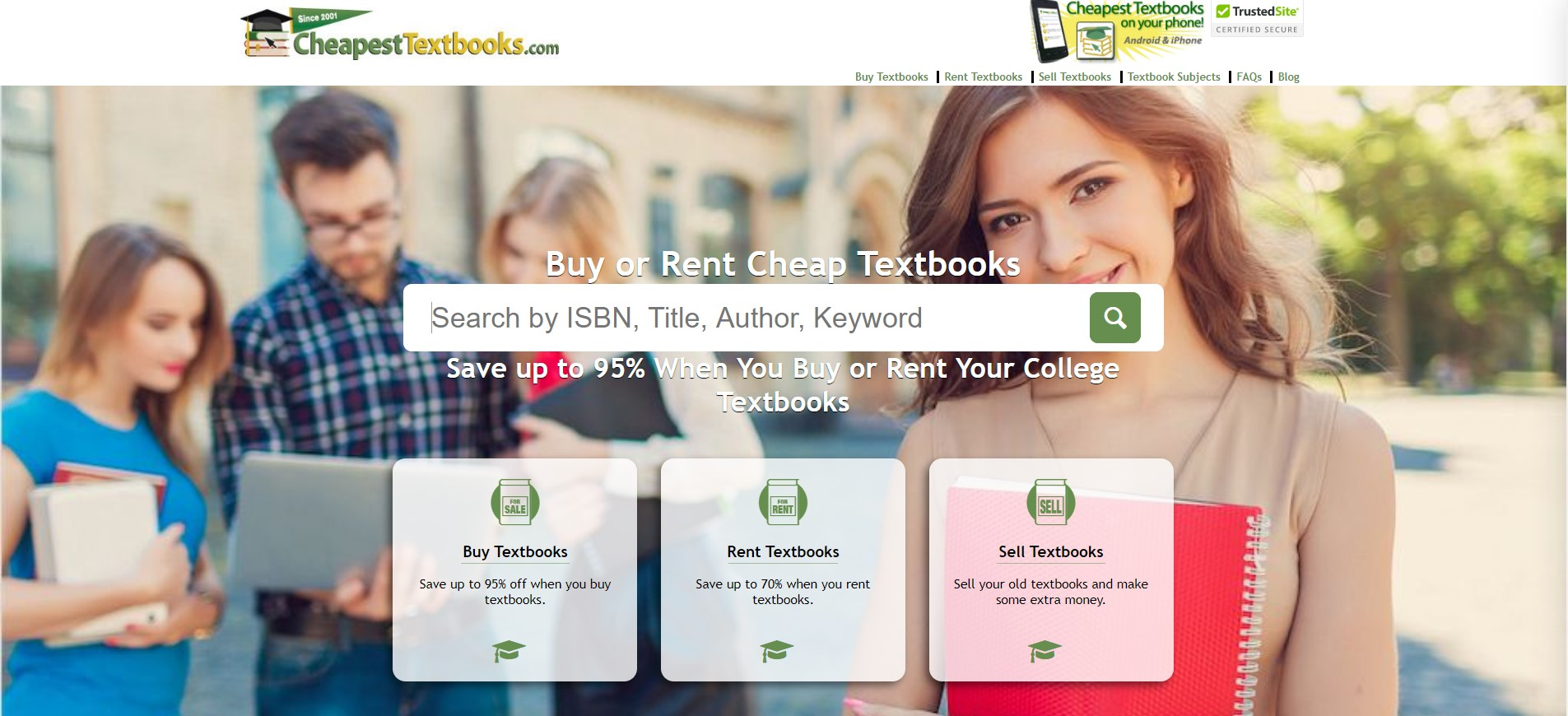 cheapesttextbook textbook search app