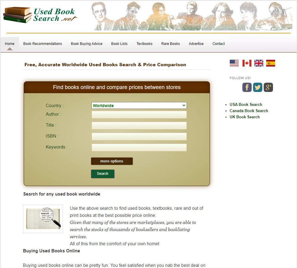 usedbooksearch search for cheap used textbooks