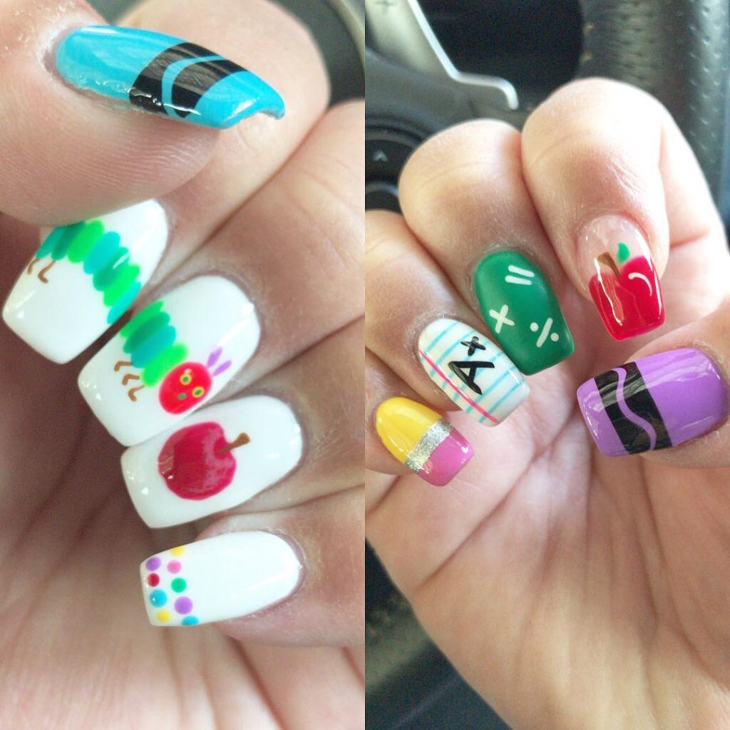 back to classroom nails