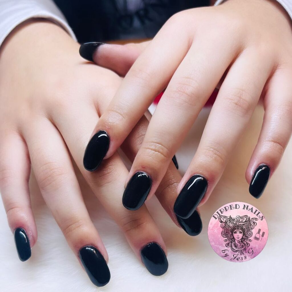 back to school black nails